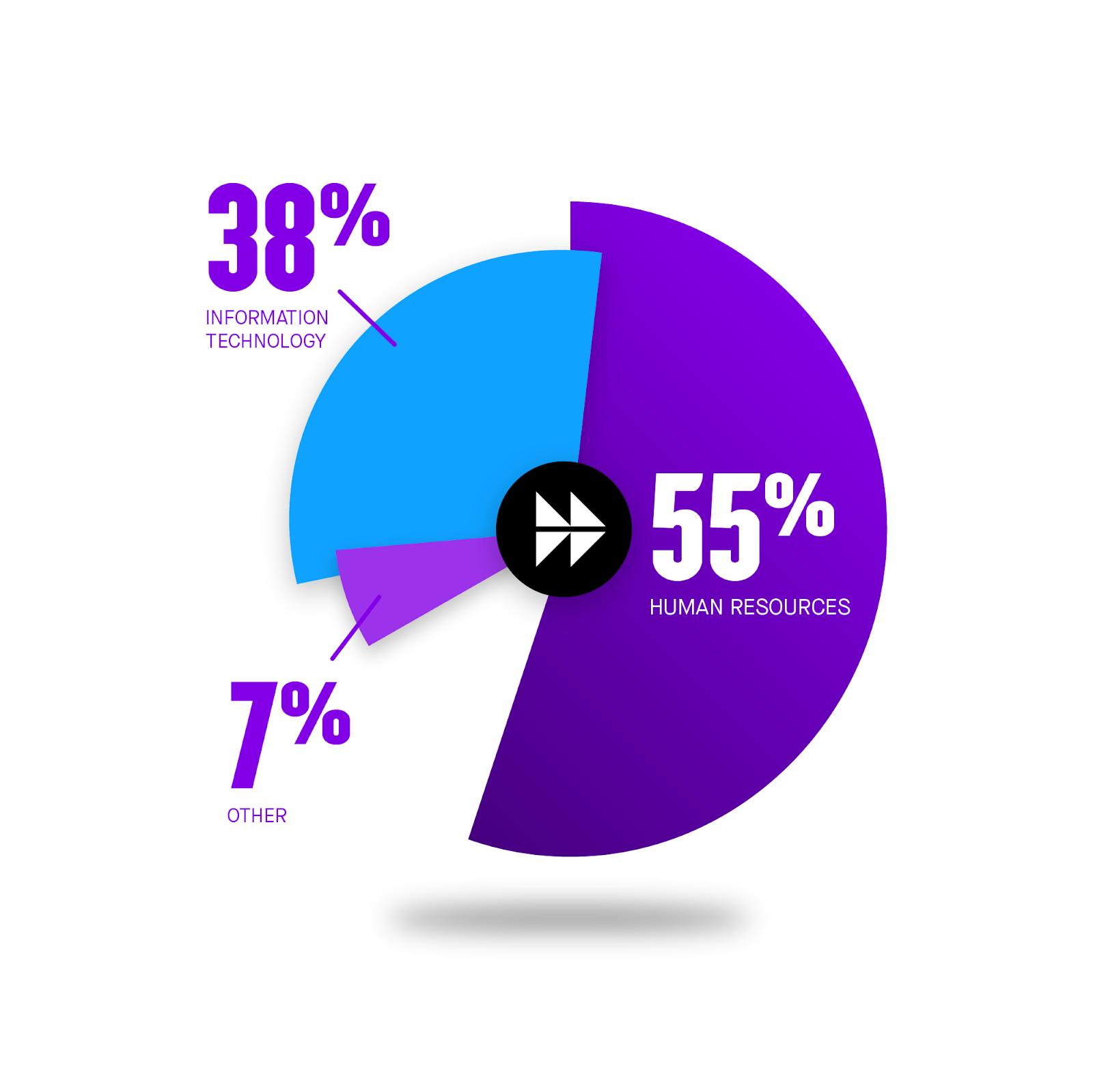 55%pie